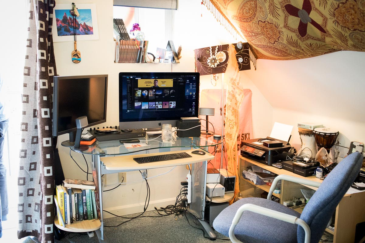 Cinematographer Ben Sturgulewski's home office in Girdwood, Alaska