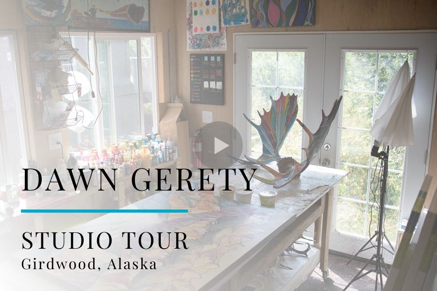 Studio Tour Video: Painter Dawn Gerety, Girdwood, Alaska