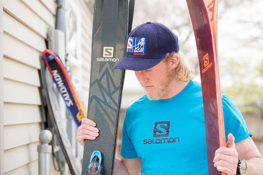 Skier + Writer Drew Petersen in Salt Lake City, Utah. Photo: Kim Olson