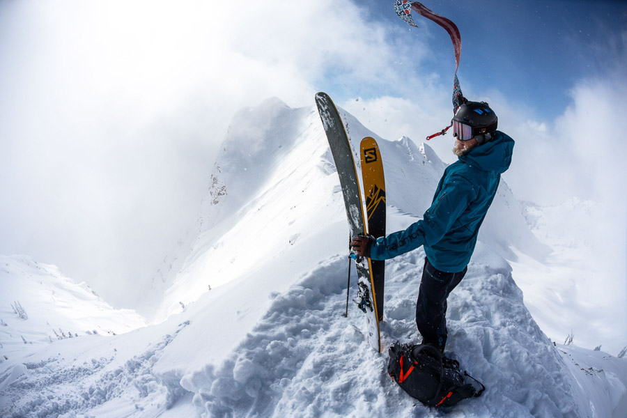 Drew Petersen skiing the Wasatch backcountry skiing in Utah. Photo: Sam Watson
