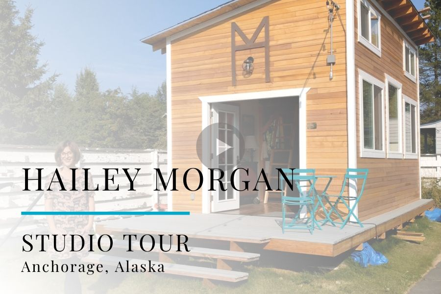 Studio Tour Video: Painter Hailey Morgan, Anchorage, Alaska