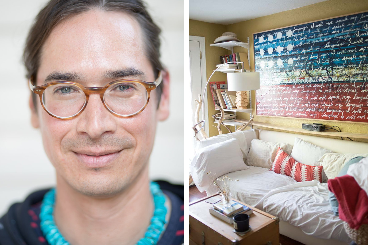 Artist James Temte at his home in Anchorage, Alaska