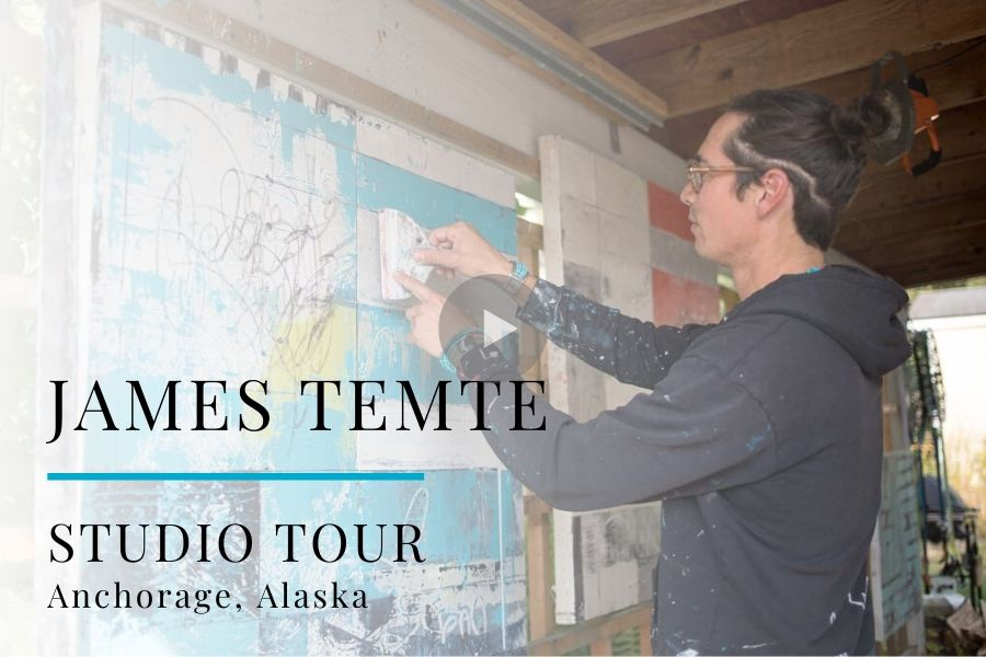 Studio Tour Video: Painter James Temte, Anchorage, Alaska