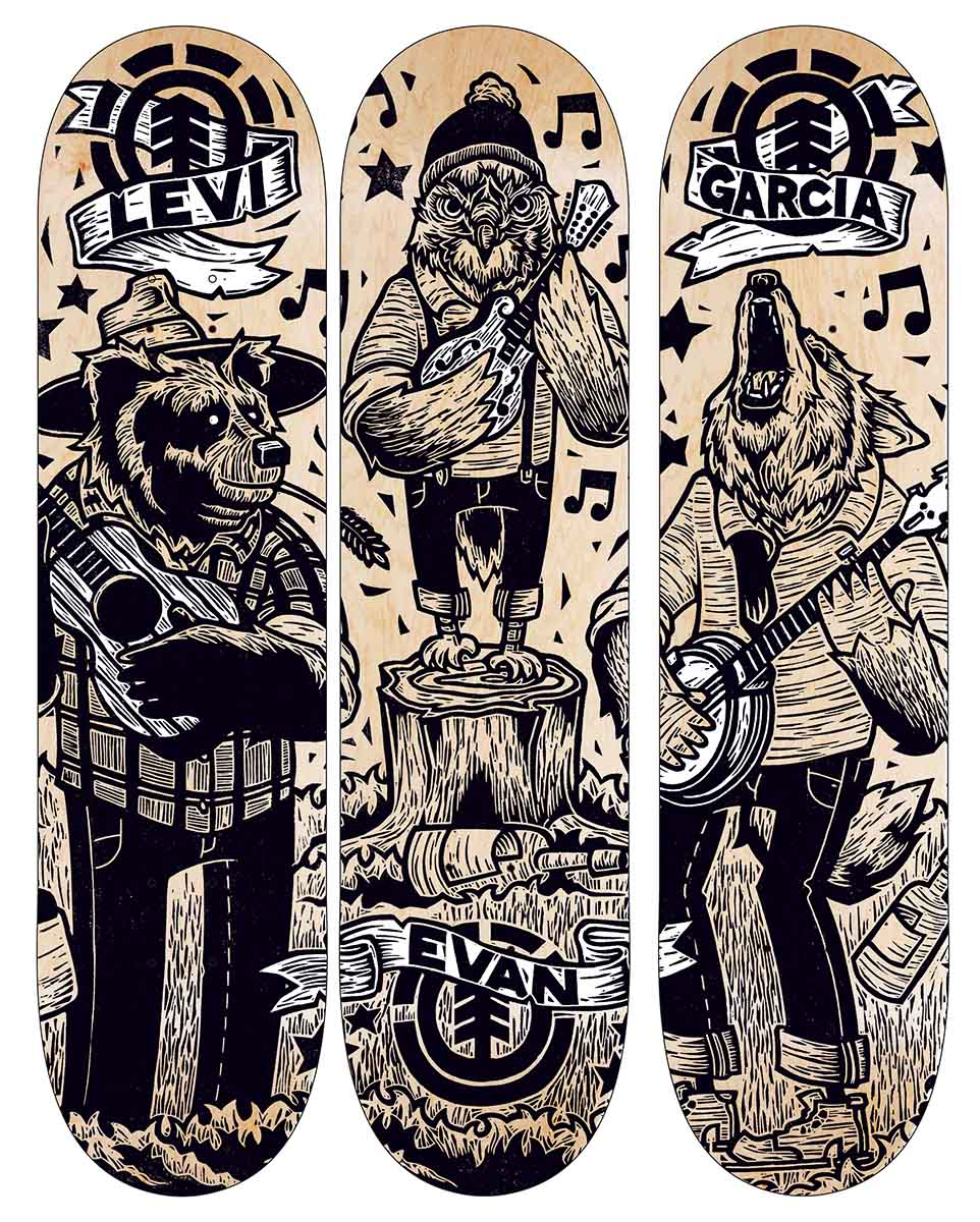 Title: Animal Band (2015) Client: Element Skateboards. —John Fellows
