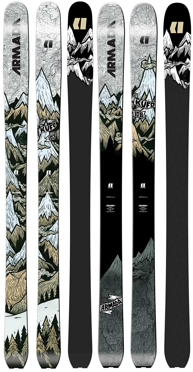 Title: KUFO Ski Graphics (2016) Client: Armada Skis. —John Fellows