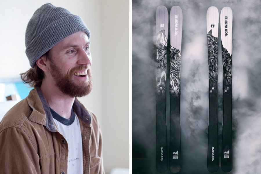 Joseph Toney / Art graphics on Armada skis