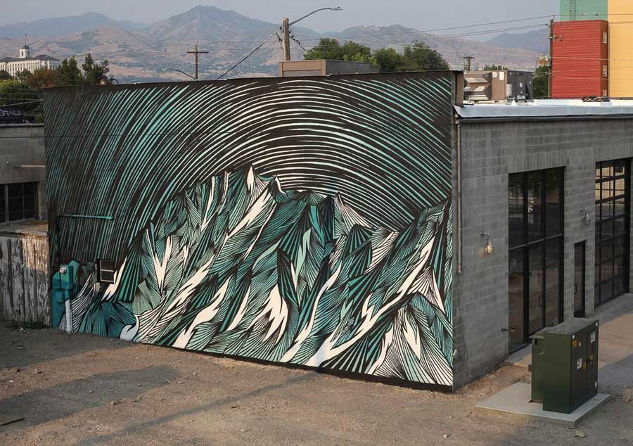 Granary Mural in SLC by Joseph Toney