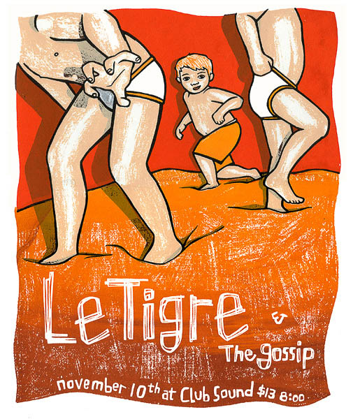 Le Tigre Poster by Leia Bell