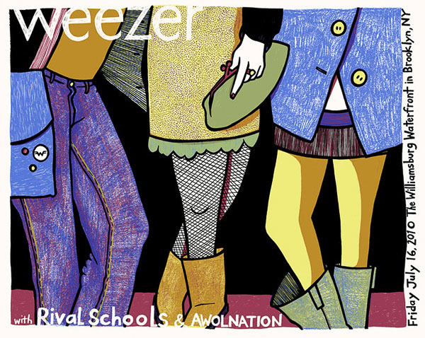 Weezer Poster by Leia Bell