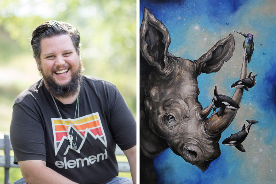Illustrator, Muralist + Painter Patrick Maxcy and his work