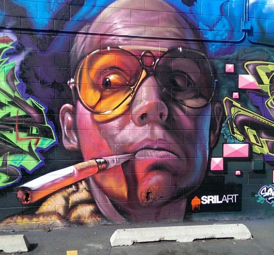 "Fear + Loathing mural by Shae ""SRIL"" Petersen"