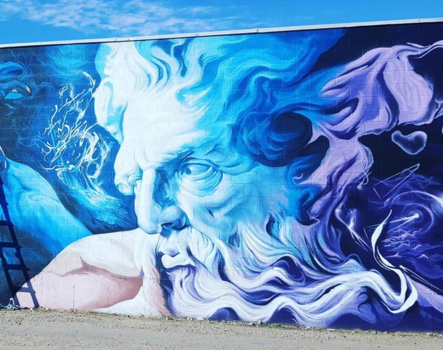 "Godlike mural by Shae ""SRIL"" Petersen"