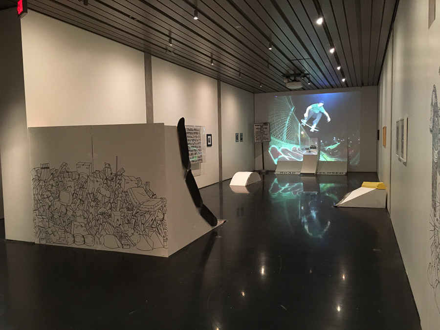 Skating and art installation at the Anchorage Museum. —Ted Kim