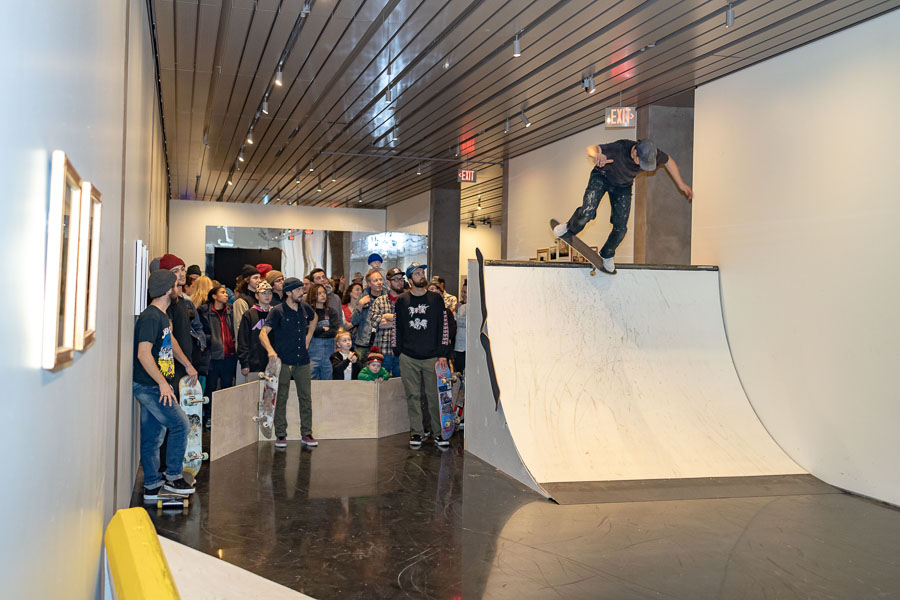 Skating and art installation at the Anchorage Museum. PHOTO: Will Ingram